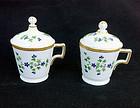 Pair of pots de crème / dessert cups, Dihl et Guerhard, Paris, 1790�s