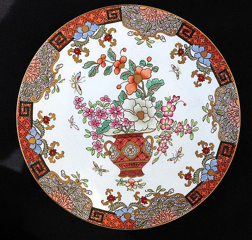 English Furnival Mandarin dish, late 19th c