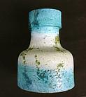 Fantoni turquoise or Rimini blue vase, c 1960