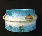 Fantoni turquoise or Rimini blue jar, c 1960