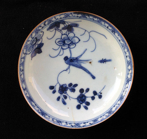 Blue and white Batavia ware or Café au lait  bowl, 18th c