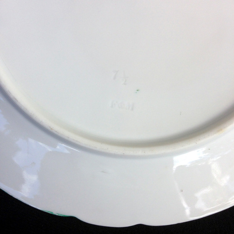Fischer & Mieg monogrammed plates, crowned