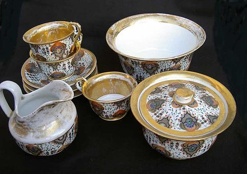 Russian Imperial coffee service by Gardner, part