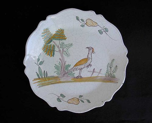 French fayence plate, c 1800