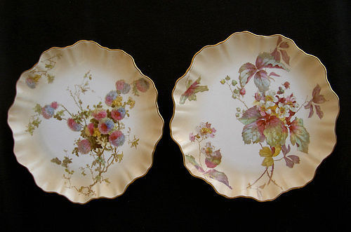 Pair of Doulton Burslem dishes, Victorian