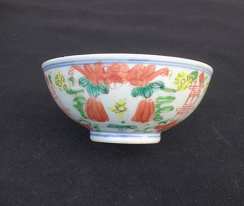 Doucai bowl, Minyao / kitchen ware
