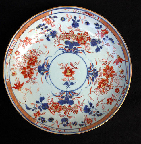 Chinese Imari dish or bowl, Kangxi period, c 1700