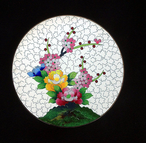 Inaba cloisonné dish