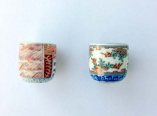Two sake cups, late Edo