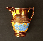Enoch Wood copper lustre jug / pitcher, early 19th c