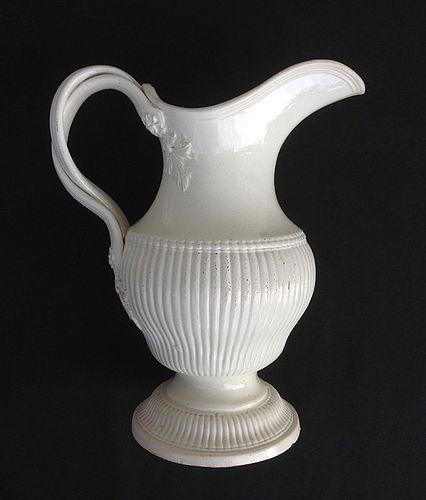 English creamware ewer, 18th century, by J&C Whitehead, Hanley
