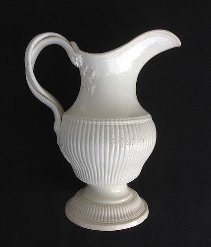 English creamware ewer, 18th century, by J&C Whitehead, Hanley