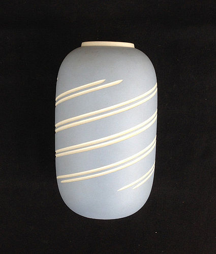 Wedgwood �Symmetry� blue jasper ware vase