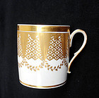 A very large French coffee can / gobelet litron, c 1800