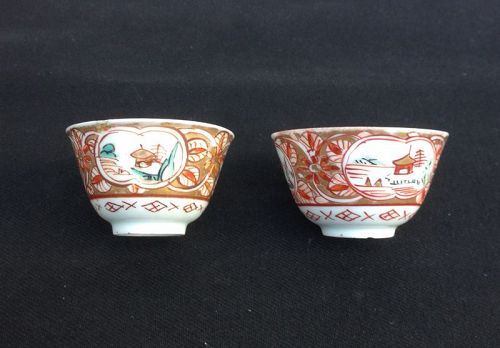 Pair of Japanese wine cups, Edo, c 1700