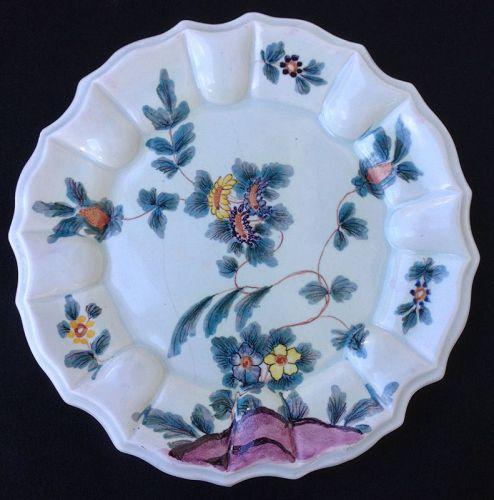 Italian Nove majolica plate, Agostinelli after Antonibon