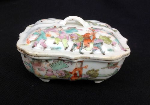 Tongzhi style lidded box, Chinese republic