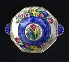 English Maling Deco lustre ware double handled bowl, 1950�s