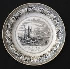 French transfer printed plate by Monterau, early 19th c