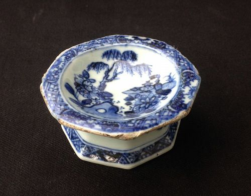 Chinese Export blue and white salt cellar, Qianlong