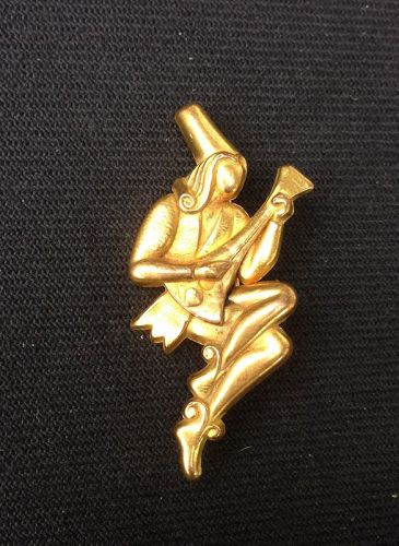 French Déco musician pin