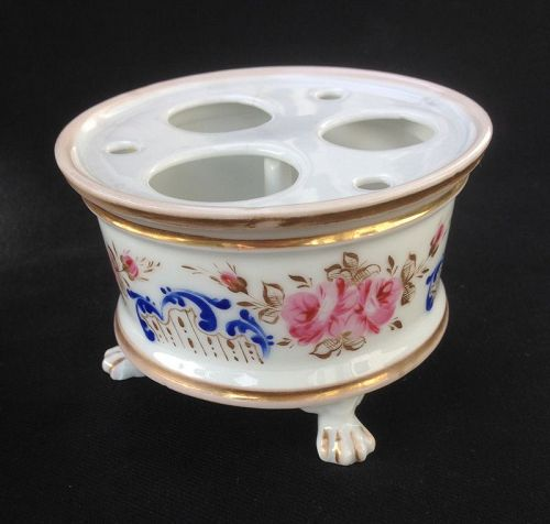 Porcelain inkstand, for a lady�s writing desk, France, c 1850