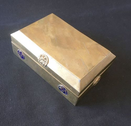 Antique Chinese brass box