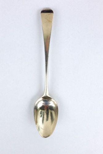 Dessert spoon by Richard Crossley, London, sterling silver, Georgian
