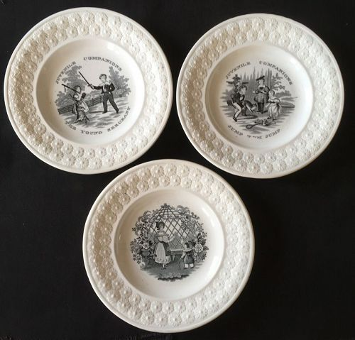 London marked child�s plates, probably by John Carr, Victorian