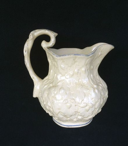 David Johnston, Bordeaux, France 1835: creamware pitcher, unusual
