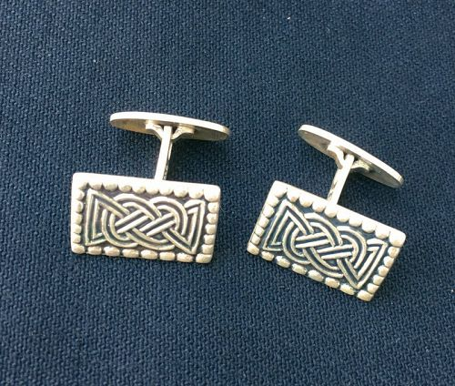 Viking Celtic silver cufflinks, historic jewelry by David Andersen