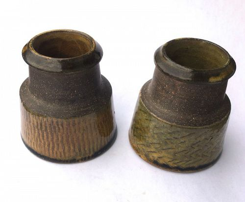 Stoneware vases by Nils Kähler /Kahler, Denmark, a pair