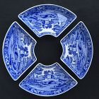 Spode Tower, four side dishes for a Lazy Susan / Canterbury set