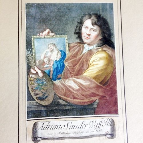Adriaen van der Werff, self portrait from Raccolta di 324 Ritratti�