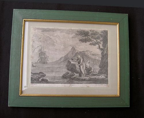 18th century copper engraving, after Joseph Vernet