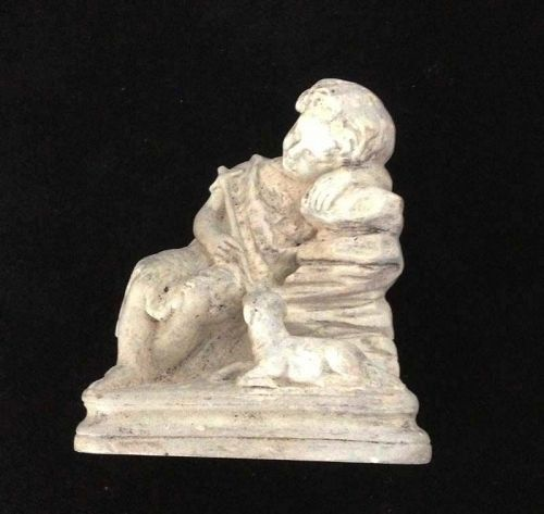 Infant St. John the Baptist resting, plaster of Paris sculpture