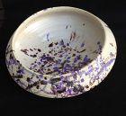 Fantoni, Italy, 1950�s: large modernist purple and blue splash bowl