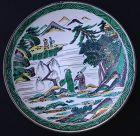 Ko-Kutani revival dish, Meiji