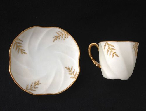 French cup and saucer, Art Nouveau and Japonisme