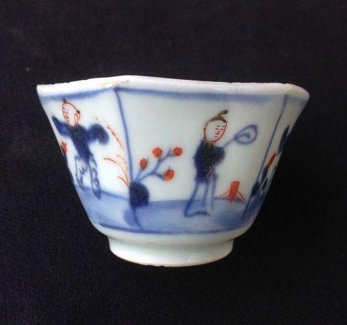 Kangxi Imari Jumping boy wine cup
