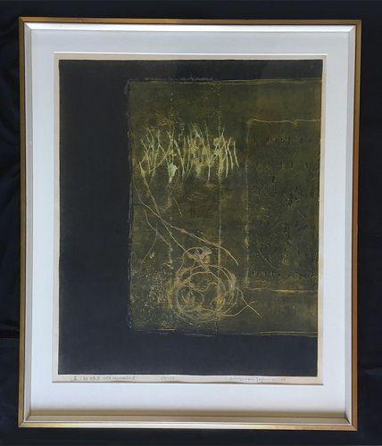 �Old Memories A�, woodblock print by Hiroyuki Tajima