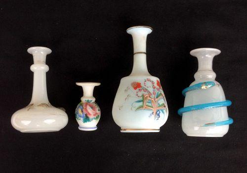 White Opaline perfume bottles