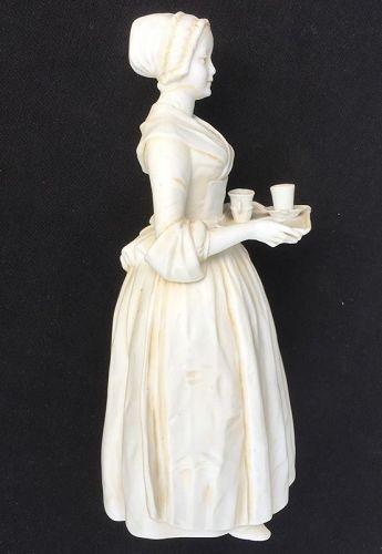 La Belle Chocolatiere, biscuit figure after Liotard