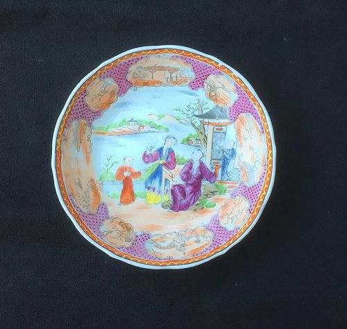 Miles Mason Boy at the Door Chinoiserie dish