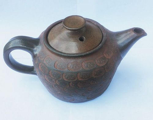 Redware teapot by Dybdahl, Denmark