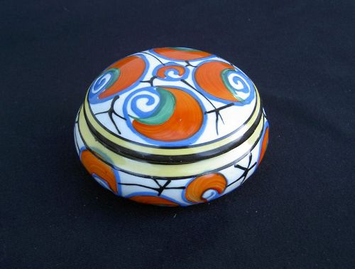 Czech Art Déco lidded box, Ditmar Urbach
