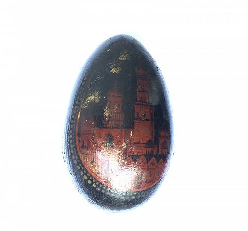 Russian wooden egg