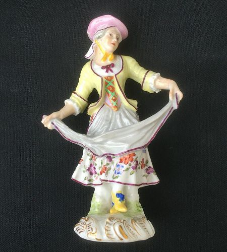 Figure of a dancing girl, Samson after Meissen, mid-19th century