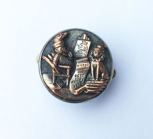 Bachelor button with Punch, Victorian