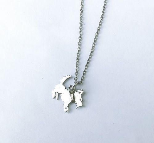 Art Deco silver pendant: a very small Scottish terrier